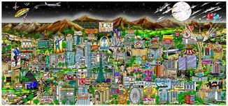 Charles Fazzino Art Charles Fazzino Art Midnight in Vegas (DX) (Full Color)