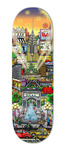 Charles Fazzino Art Charles Fazzino Art Misty Memories Skateboard Deck (Sculpture)