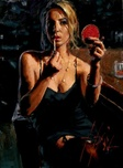 Fabian Perez Fabian Perez Monika With Mirror
