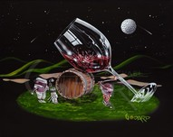 Godard Wine Art Godard Wine Art Moonlight Golf (G)