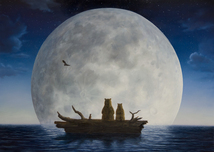 Robert Bissell Art Robert Bissell Art The Moonlighters (AP) - Framed