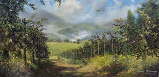 Artist James Coleman Artist James Coleman Napa Vineyard  30 x 60