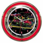 Michael Godard Art & Prints Michael Godard Art & Prints Neon Clock -  Nasbar