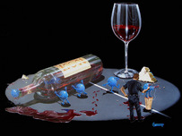 Godard Wine Art Godard Wine Art Nervous Grapes 502 (Mural)