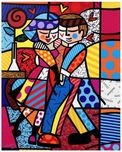 Romero Britto Art Romero Britto Art New Cheek to Cheek