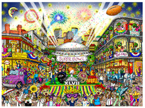 Charles Fazzino 3D Art Charles Fazzino 3D Art Super Bowl XLVII: New Orleans (SN)
