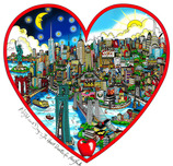Charles Fazzino Charles Fazzino Night and Day... The Heart Beats for NY (SN)