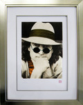 John Lennon John Lennon Nishi Photo Portrait - Orange (Framed)