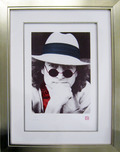 John Lennon John Lennon Nishi Photo Portrait - Red (SN, Framed)