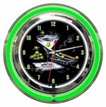 Michael Godard Michael Godard Olive Party- Neon Clock (Small)