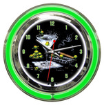 Michael Godard Michael Godard Olive Party- Neon Clock (Large)