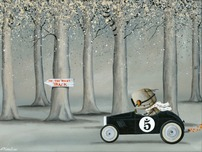 Fabio Napoleoni Fabio Napoleoni On The Right Track (SN) Canvas - Stretched