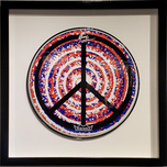 Ringo Starr Ringo Starr Peace 1 Drum Head - Red, White & Blue (Framed)