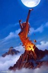 Jim Warren Fine Art Jim Warren Fine Art Pele Rising (Hawaiian Goddess)