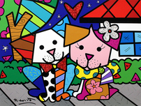 Romero Britto Art Romero Britto Art Pet Love (SN)
