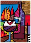 Romero Britto Art Romero Britto Art Pinot Noir (Framed)
