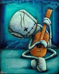 Fabio Napoleoni Fabio Napoleoni Playing on My Heart Strings - Metal Art Print