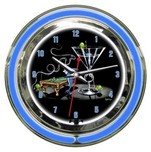 Michael Godard Michael Godard Pool Shark 2- Neon Clock (Small)