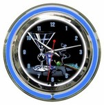 Michael Godard Michael Godard Pool Shark- Neon Clock (Small)