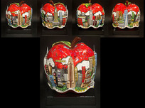Charles Fazzino Art Charles Fazzino Art Pop Goes The Red Apple (Sculpture)