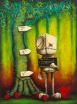 Fabio Napoleoni Fabio Napoleoni Possession of Hope with Intent to Distribute - Color (SN) Canvas