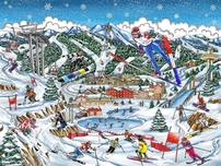 Charles Fazzino Art Charles Fazzino Art Olympic Games, 2018 - PyongChang (DX)
