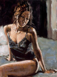 Fabian Perez Fabian Perez Renee On Bed III