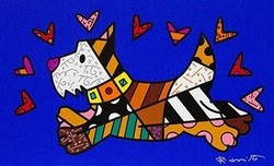 Romero Britto Art Romero Britto Art Run Scotty Run