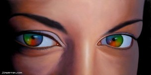 Jim Warren Fine Art Jim Warren Fine Art Rainbow Eyes
