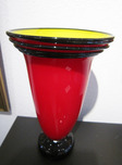 Donald Carlson Donald Carlson Red Vase with Yellow Interior