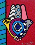 Romero Britto Art Romero Britto Art Hamsa - Red Up