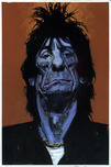 Sebastian Kruger Art Sebastian Kruger Art Orange/Blue - Ronnie Wood (Original Painting)