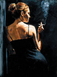 Fabian Perez Fabian Perez A Sensual Touch in the Dark