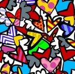 Romero Britto Art Romero Britto Art So Much Love Too (SN)