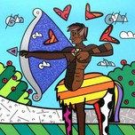 Romero Britto Art Romero Britto Art Sagittarius - Black (SN)