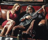 Fabian Perez Fabian Perez Self Portrait with Girl and Guitar