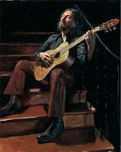 Fabian Perez Fabian Perez Self Portrait with Guitar