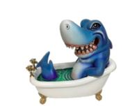 Carlos and Albert Carlos and Albert Shark in Bathtub