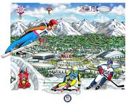Charles Fazzino 3D Art Charles Fazzino 3D Art Sochi Olympic Games (DX)