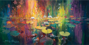 Artist James Coleman Artist James Coleman Soft Light on the Pond (24 x 48)