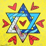Romero Britto Art Romero Britto Art Star of David - Israel Collection (SN)