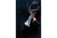 Fabian Perez Fabian Perez Study For a Man in Black Suit