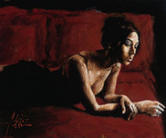 Fabian Perez Fabian Perez Renee on Bed I - Study in Red