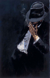 Fabian Perez Fabian Perez Study for Man in Black Suit (AP)