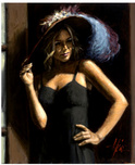 Fabian Perez Fabian Perez Study for Girl with Hat
