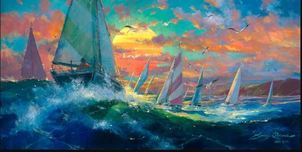 James Coleman Prints James Coleman Prints Sunset Regatta (SN) (Large)
