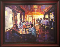 Michael Flohr Art Michael Flohr Art Sunset Grill - Framed