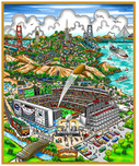 Charles Fazzino Art Charles Fazzino Art Super Bowl 50 (DX)