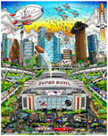 Charles Fazzino Art Charles Fazzino Art Super Bowl LI: Houston (DX)