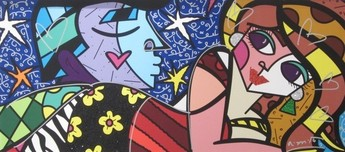 Romero Britto Art Romero Britto Art Sweet Talk (SN)